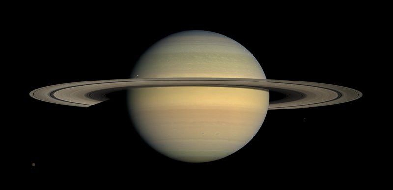 This July 23, 2008 file image made available by NASA shows the planet Saturn, as seen from the Cassini spacecraft. Twenty new moons have been found around Saturn, giving the ringed planet a total of 82, scientists said Monday, Oct. 7, 2019.