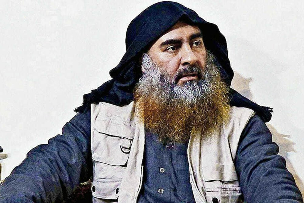 File photo of slain Islamic State leader Abu Bakr al-Baghdadi
