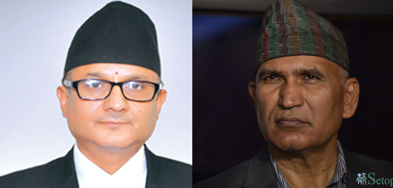 Kumar Regmi (l) and Bishnu Paudel