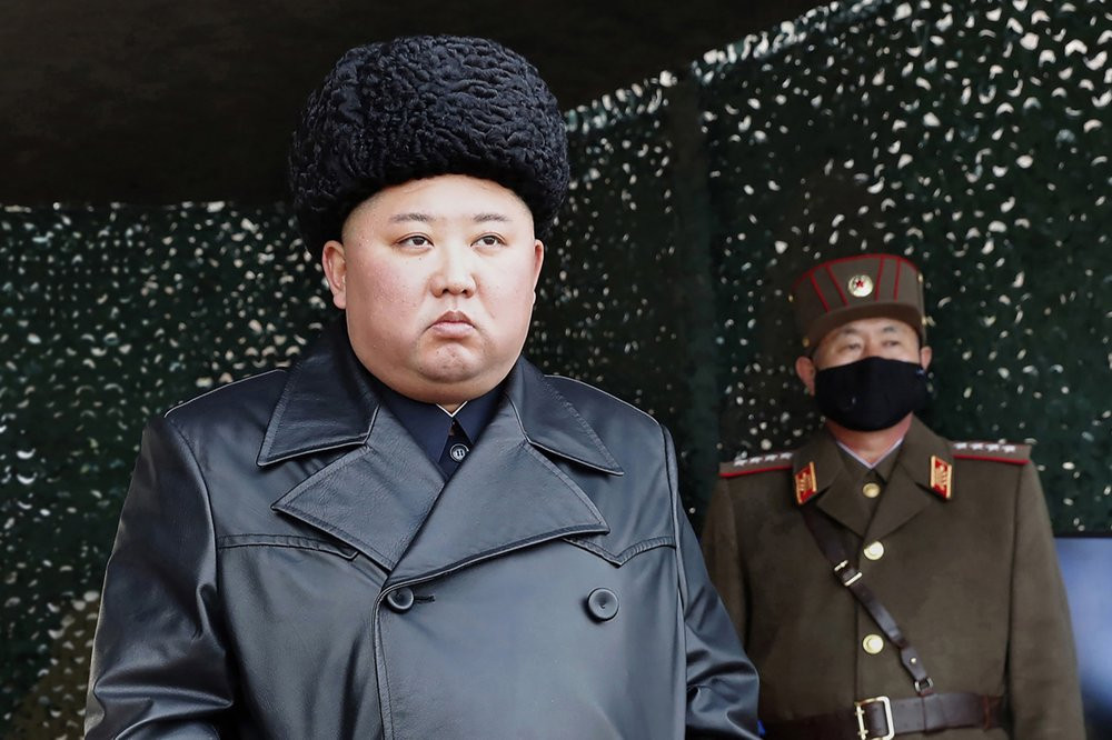 In this March 2, 2020, file photo provided by the North Korean government, North Korean leader Kim Jong Un inspects a military drill at undisclosed location in North Korea.