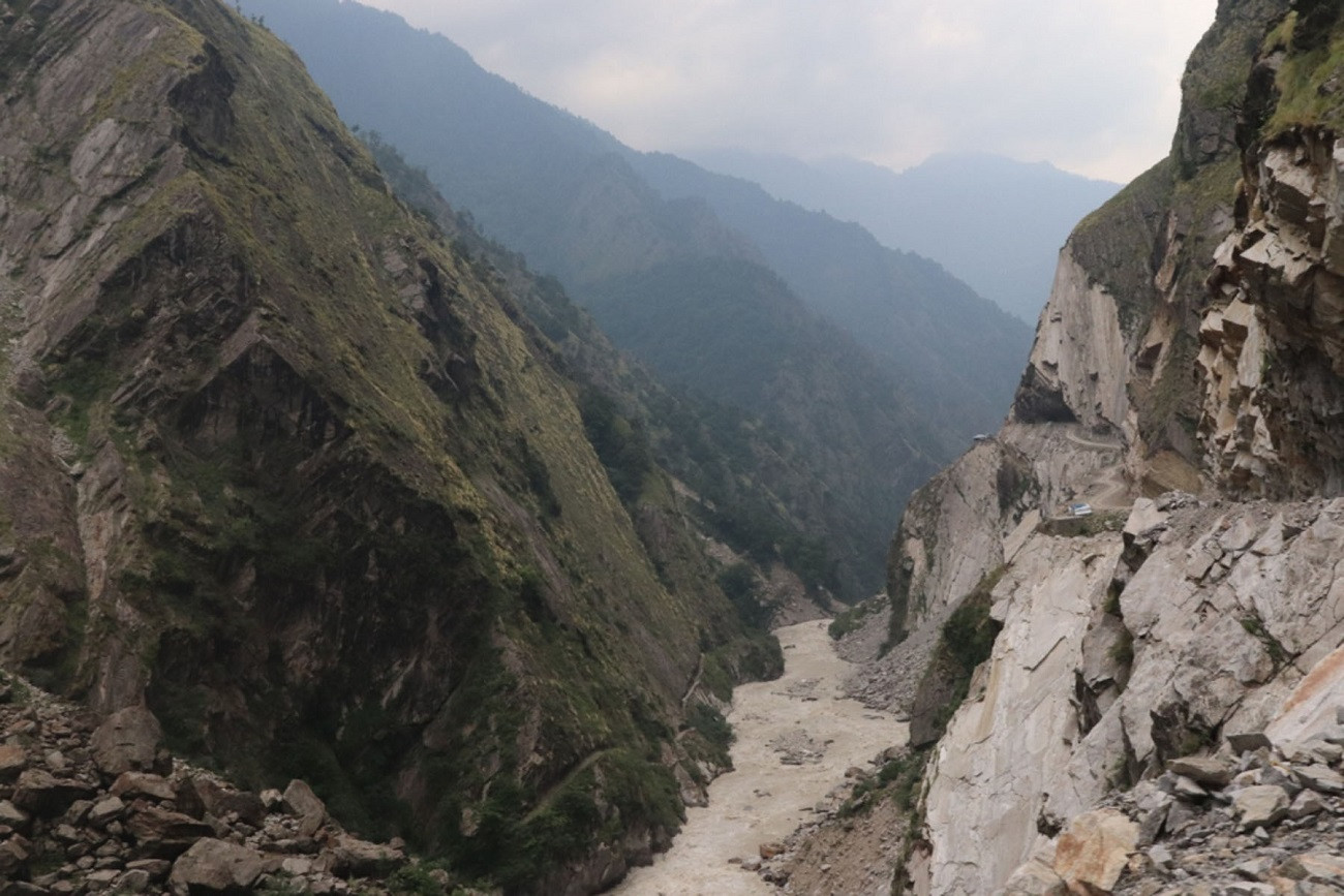 The disputed road constructed by India from Garvadhar of Pithoragarh district in Uttarakhand to Mansarovar of China via Lipu Lekh. The 78-km road inaugurated Friday passes through Kalapani, Lipu Lekh and Navidhang of Nepal. Photo: RSS