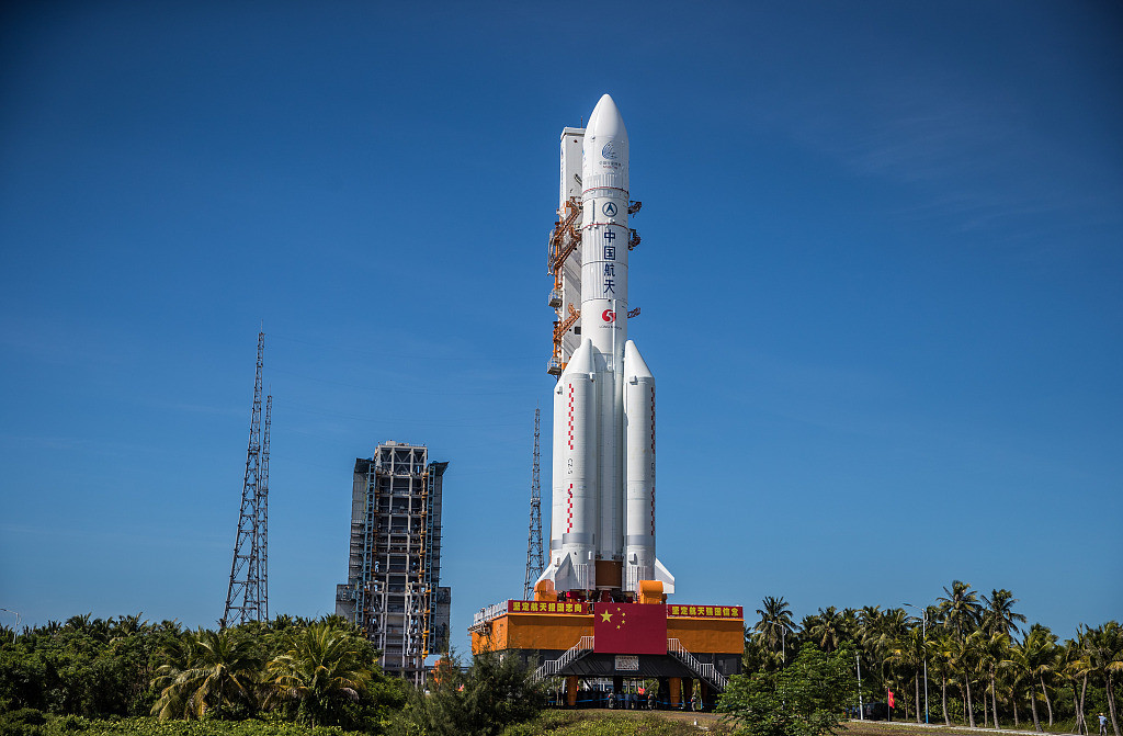 The Long March 5 Y-4 rocket, carrying an unmanned Mars probe of the Tianwen-1 mission, before taking off from Wenchang Space Launch Center in Wenchang, Hainan Province, China July 23, 2020.