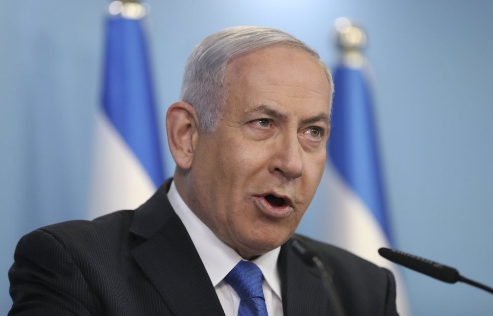 Israeli Prime Minister Benjamin Netanyahu announces full diplomatic ties will be established with the United Arab Emirates, during a news conference on Thursday, Aug. 13, 2020 in Jerusalem.