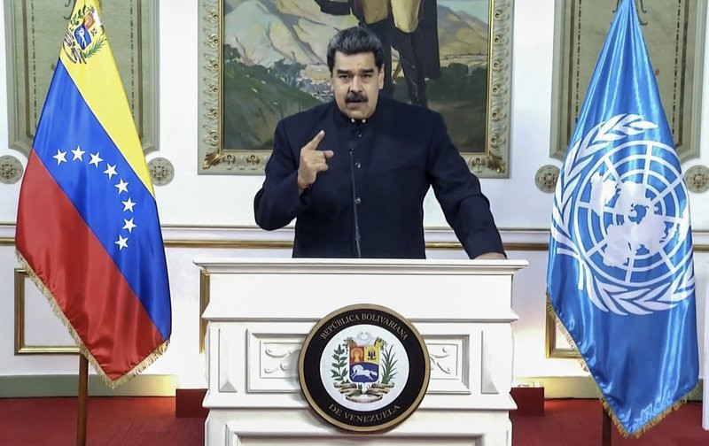 In this UNTV image, Nicolás Maduro Moros, President of Venezuela, speaks in a pre-recorded video message during the 75th session of the United Nations General Assembly, Wednesday, Sept. 23, 2020, at UN headquarters in New York.