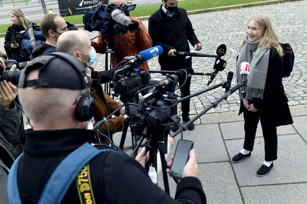 """Aava Murto, 16, assumed the post of Finnish prime minister for one day in the """"Girls Takeover"""" scheme part of the U.Ns' Day of the Girl to raise more awareness of gender equality in the world."""
