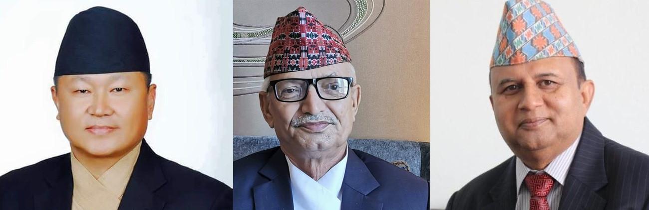 (From left) Province 1 CM Sher Dhan Rai, Bagmati CM Dor Mani Paudel and Lumbini CM Shankar Pokharel.