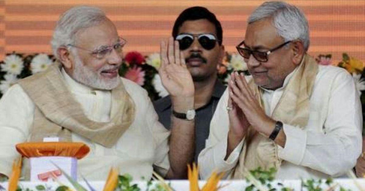 PTI file photo of Indian PM Narendra Modi (l) and Bihar CM Nitish Kumar.