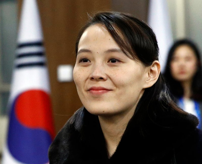 In this Feb. 9, 2018, file photo, Kim Yo Jong, sister of North Korean leader Kim Jong Un, arrives for the opening ceremony of the 2018 Winter Olympics in Pyeongchang, South Korea.