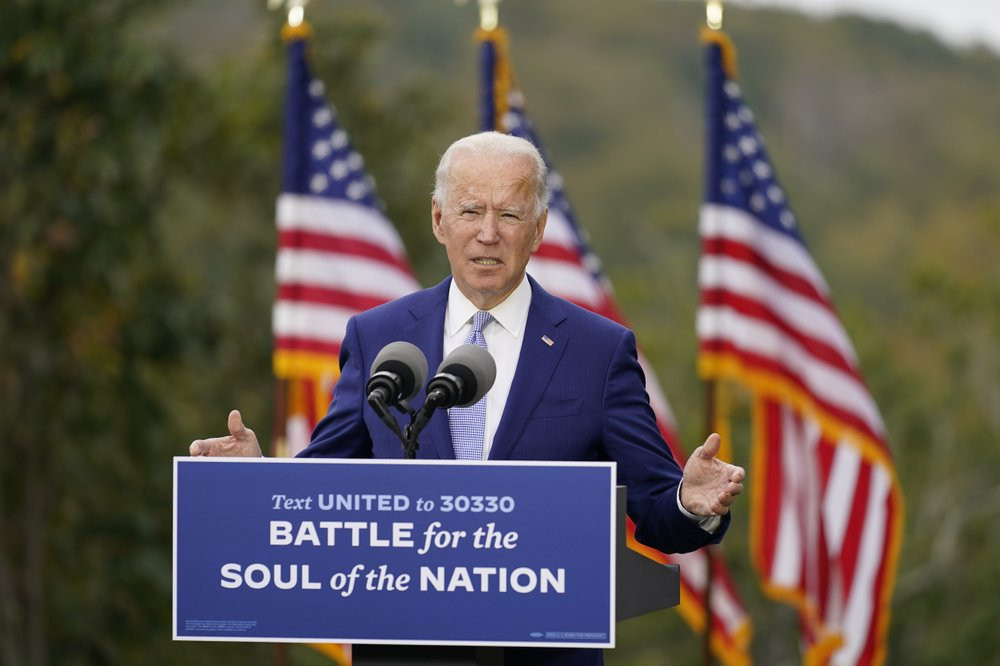 In this Oct. 27, 2020, file photo, then-Democratic presidential candidate former Vice President Joe Biden speaks at Mountain Top Inn & Resort in Warm Springs, Georgia.