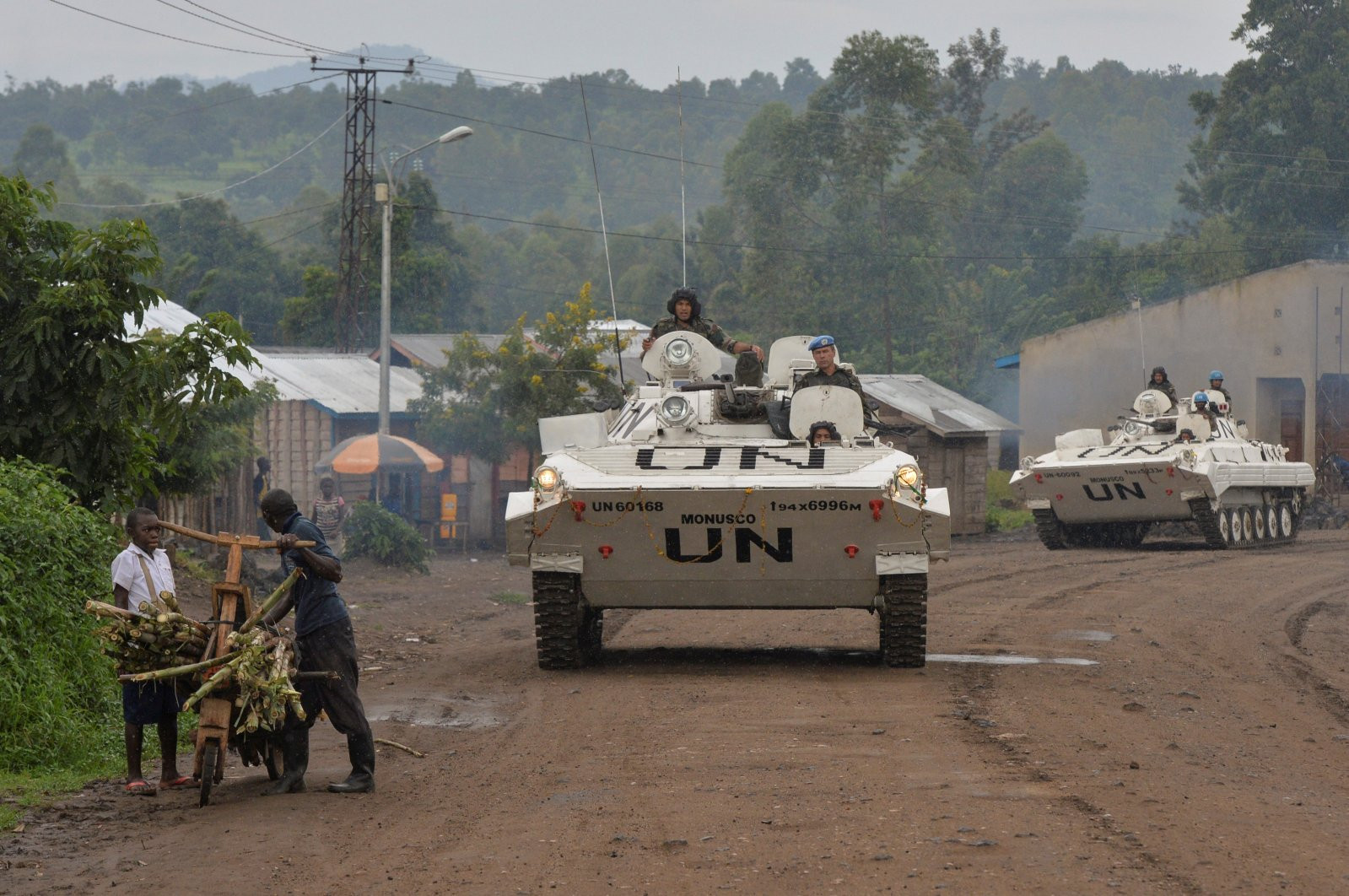 File photo of UN peacekeepers on patrol in Congo.