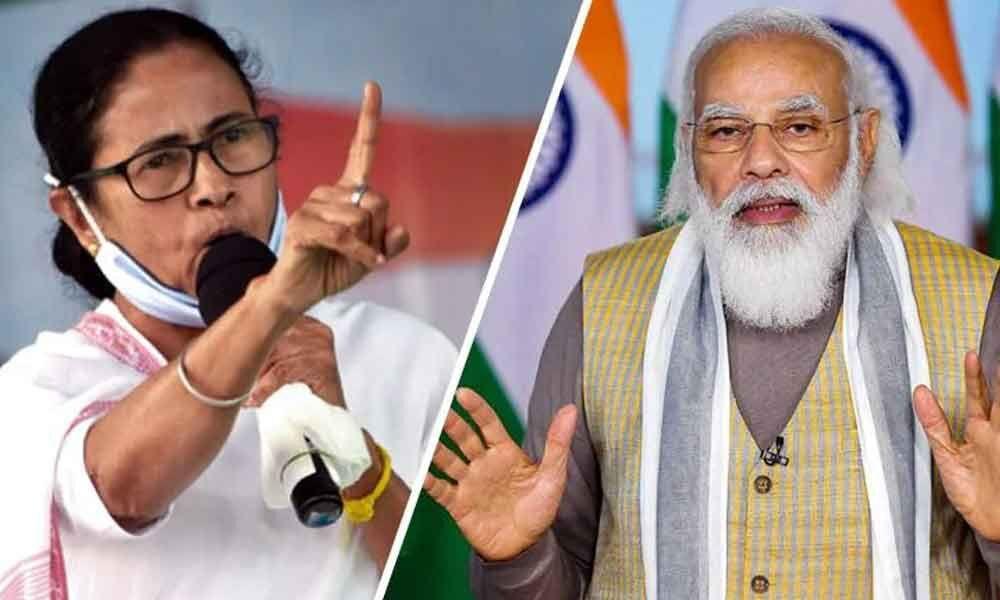 Mamata Banerjee and Modi
