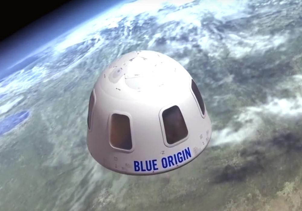 This undated file illustration provided by Blue Origin shows the capsule that the company aims to take tourists into space. The price to rocket into space next month with Jeff Bezos and his brother is a cool $28 million.