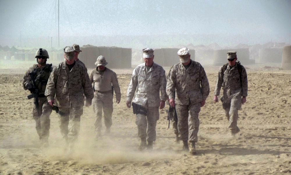 This November 2011 photo shows Gen. James Amos, commandant of the Marine Corps, in Helmand province in southern Afghanistan.