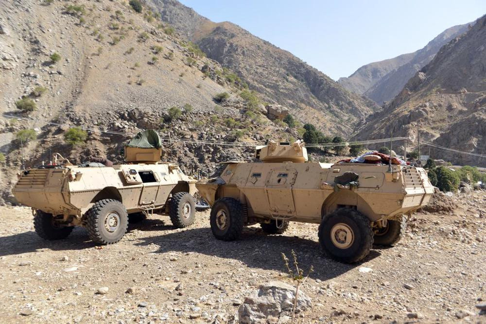 In this Aug. 25, 2021, file photo, armored vehicles are seen in Panjshir Valley, north of Kabul, Afghanistan.