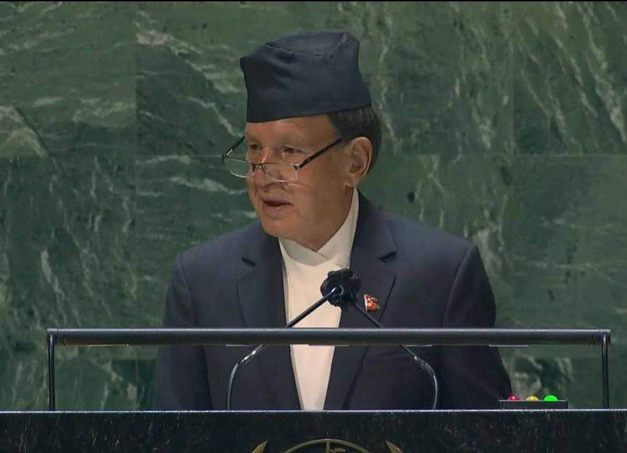 Foreign Minister  Narayan Khadka called for fair and equitable access to vaccines for everyone addressing the 76th session of the United Nations General Assembly in New York on Monday.