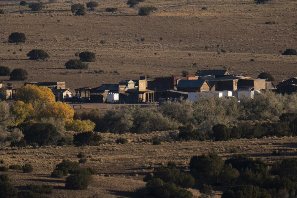 The Bonanza Creek Film Ranch is seen in Santa Fe, N.M., Saturday, Oct. 23, 2021.