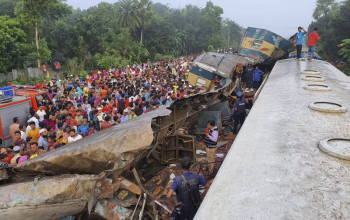 At least 15 killed when express trains collide in Bangladesh