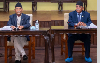 Oli, Dahal to continue dialogue, unofficial task force formed