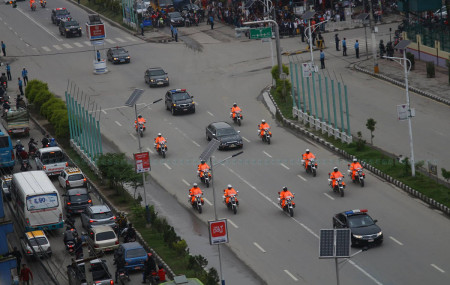 File Photo of president's motorcade
