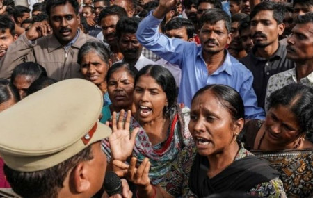 Protesters in India demonstrate demanding death penalty for rapists in this file photo.