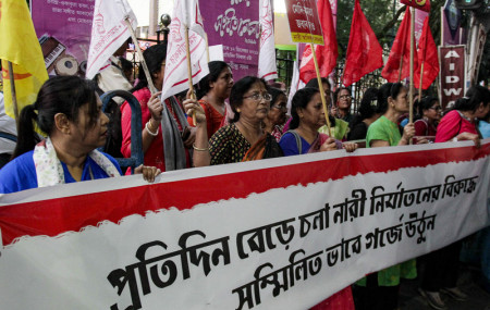 File photo of Indian women demanding justice for rape victims.