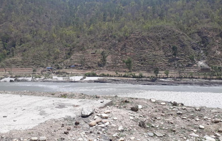 The Bheri river where the six youths drowned.