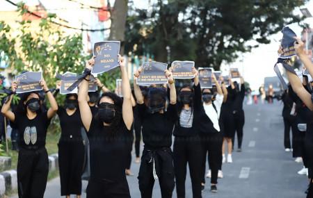 File photo of protest against rape