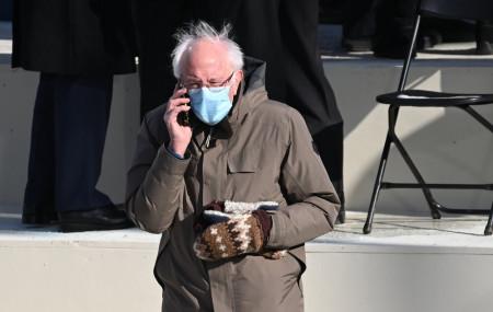 Vermont Senator Bernie Sanders arrives for the 59th Presidential Inauguration at the U.S. Capitol for President-elect Joe Biden in Washington, Wednesday, Jan. 20, 2021.
