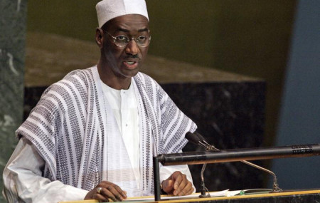 In this Thursday Sept. 21, 2006, file photo, Mali's Minister for Foreign Affairs and International Cooperation Moctar Ouane addresses the 61st session of the United Nations General Assembly at the United Nations headquarters.