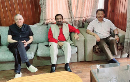 (From L) Koirala, Nidhi and Singh. Photo Courtesy: UP Lamichhane