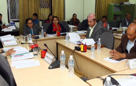 The meeting of State Affairs and Good Governance Committee on Friday. RSS Photo