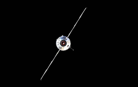 In this photo taken by Russian cosmonaut Oleg Novitsky and provided by Roscosmos Space Agency Press Service, the Nauka module is seen prior to docking with the International Space Station on Thursday, July 29, 2021.