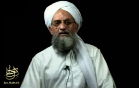 This frame grab from video shows al-Qaida's leader Ayman al-Zawahri at an unknown location, in a videotape issued Saturday, Sept. 2, 2006.