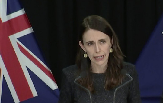 In this image from a video, New Zealand Prime Minister Jacinda Ardern speaks at a news conference in Wellington, New Zealand Tuesday, Aug. 11, 2020.