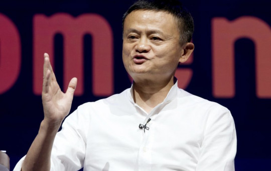 In this Oct. 12, 2018, file photo, Chairman of Alibaba Group Jack Ma speaks during a seminar in Bali, Indonesia.
