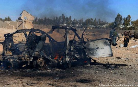 File photo of a car bombing in Kandahar, Afghanistan.