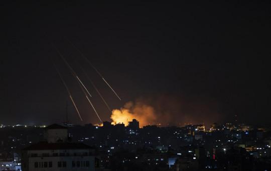 Smoke rises following Israeli missile strikes on Gaza City, Thursday, May 13, 2021.