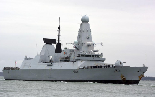 This March 20, 2020 file photo shows HMS Defender in Portsmouth, England.