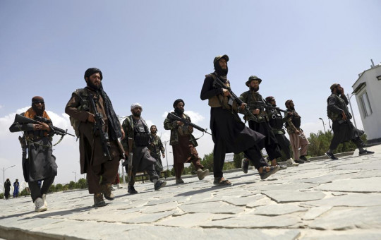 Taliban fighters patrol in Kabul, Afghanistan, Thursday, Aug. 19, 2021.