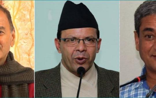 (From L) Sitaula, Rijal and Lekhak