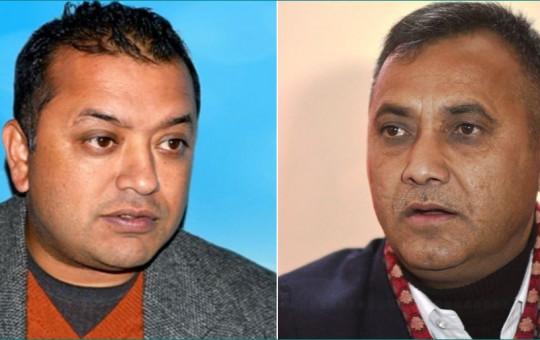 Thapa (l) and Sharma.