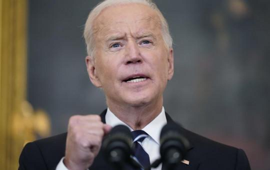US President Joe Biden speaks in the State Dining Room at the White House, Thursday, Sept. 9, 2021, in Washington.