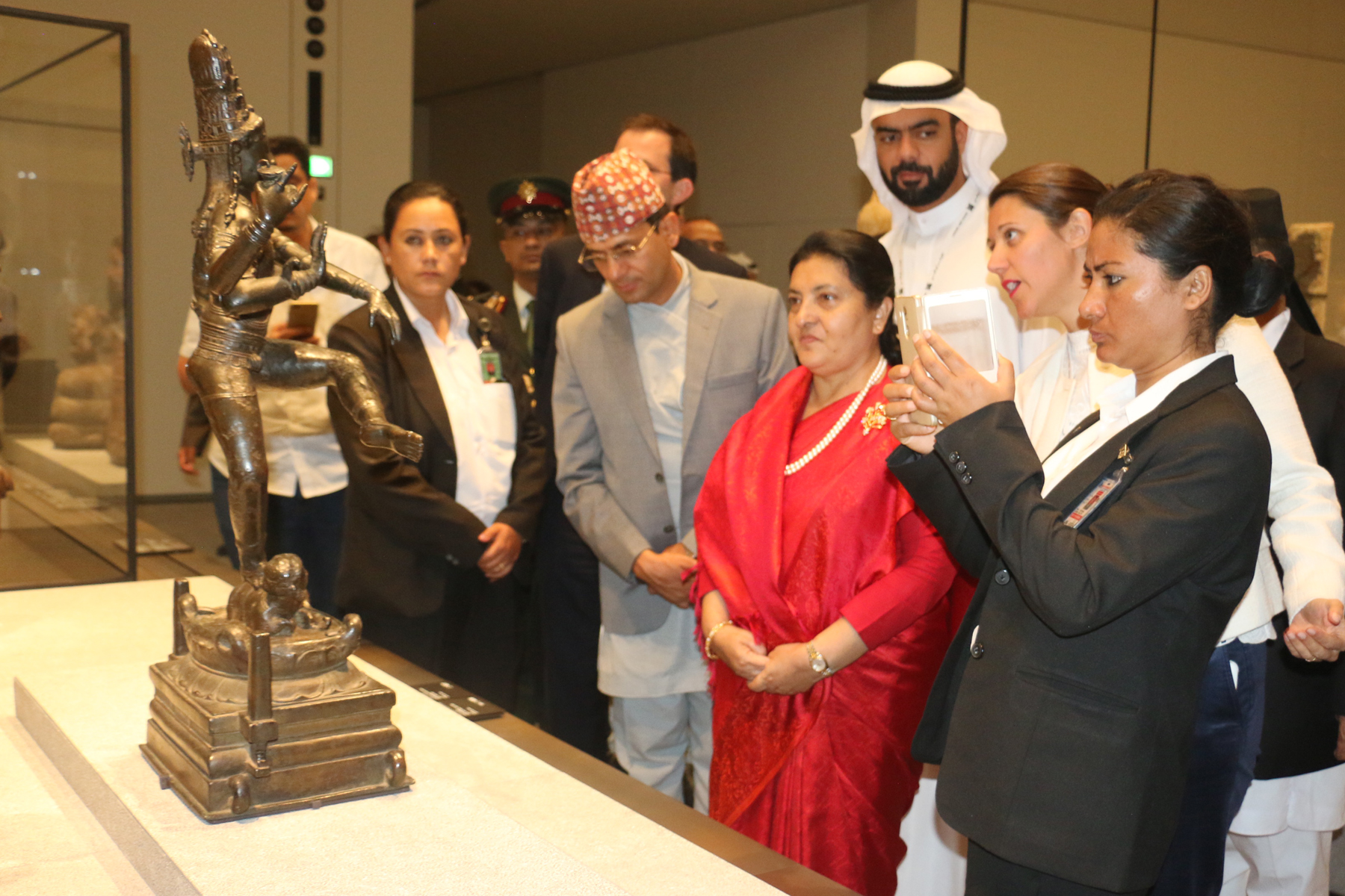 President Bhandari observes Louvre Abu Dhabi and Grand