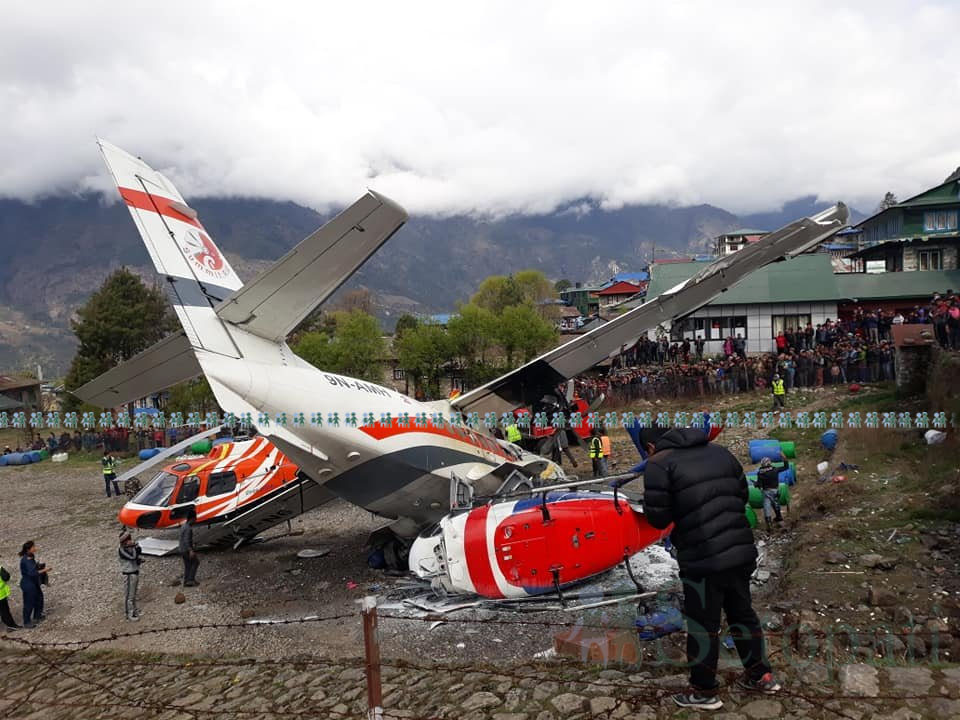 3 die as jet hits parked helicopter at takeoff near Mount Everest